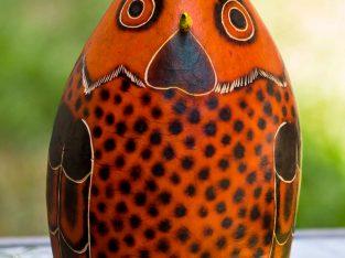 Peruvian Owl Gourd Ornament