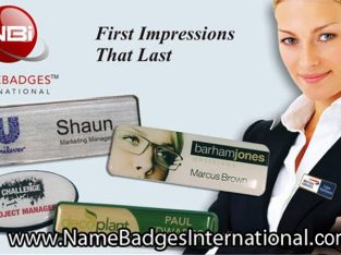 Name Badges and Tags with No Setup Fees at Name Badges International