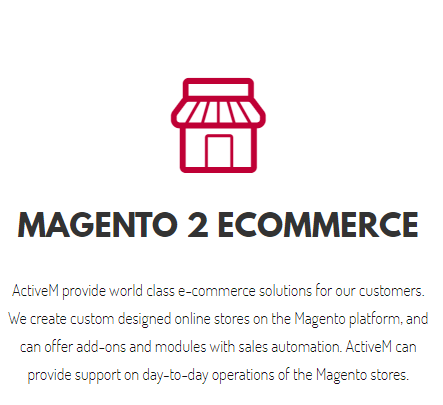 Website design | E-commerce | B2B | Hosting | SEO | Marketing | Active(m) Magento Services