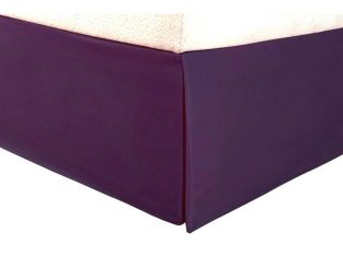 Purple Bed Skirt