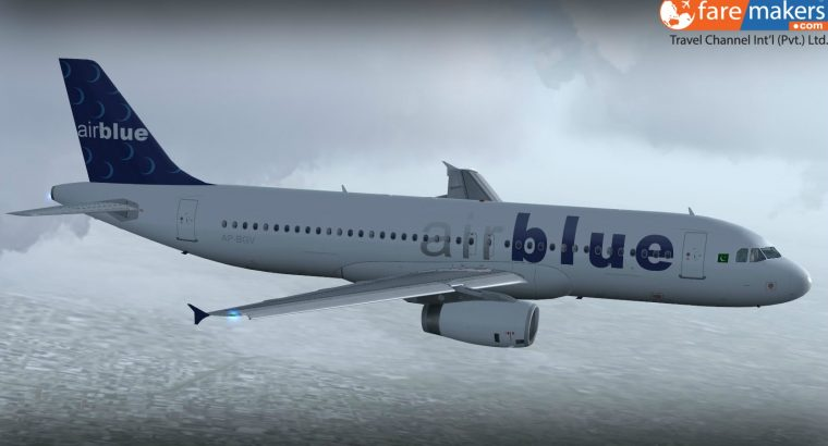 New Year Offer! Get 40% Discount On Air Blue Ticket Rates