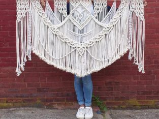 Macrame Cushion and Macrame Wall Hanging