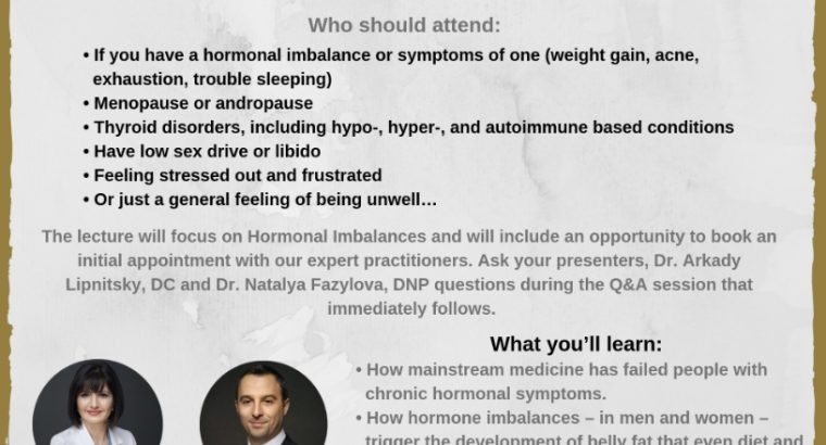 Sex, Stress & Hormones