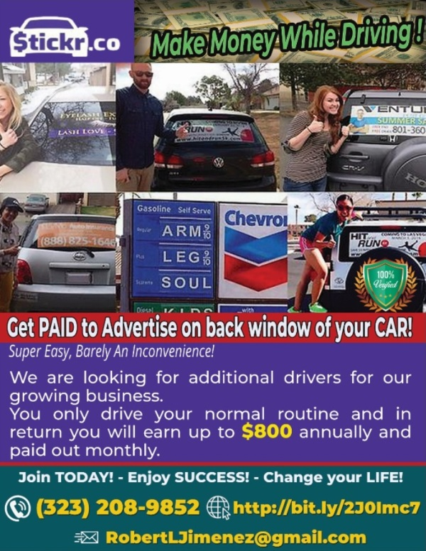 Make Money While Driving – Super Easy, Barely An