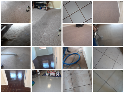 Professional steam carpet and tile cleaners