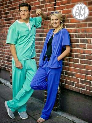 Buy Mens Scrub Tops Online | Medical Scrub Jackets For Men | AM:PM