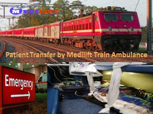 Pick Country's Best Train Ambulance from Patna to Mumbai by Medilift