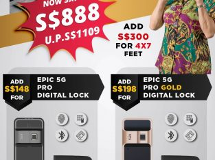888 Lucky Door Promotion with Satin Gold Digital lock HP 98811733
