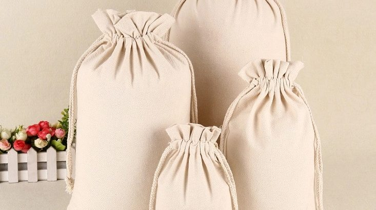 Cotton Pouch, Favor Bag, Muslin Bag, Cotton Wedding Bag