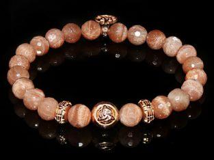 Peach Moonstone Luxury Bracelet