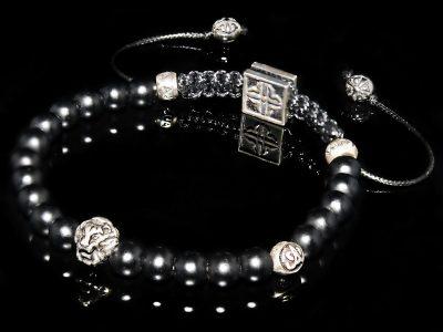 Lion & Onyx Bracelet Focusing on Discipline-Self-Mastery