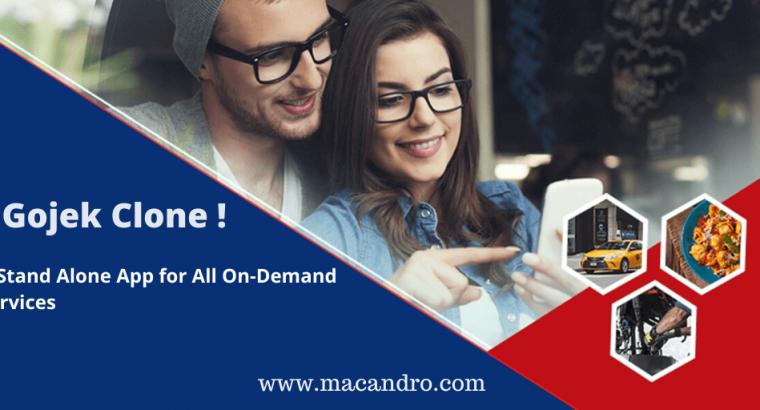 Gojek Clone | 50+ On-demand services in One platform | MacAndro