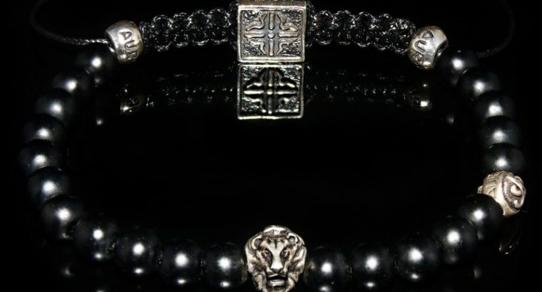 Lion & Onyx Bracelet Focusing on Discipline-Self-Mastery