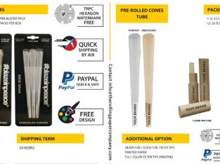 Buy Wide-Blend Of Custom Pre-Rolled Cones @ The Rolling Paper Company