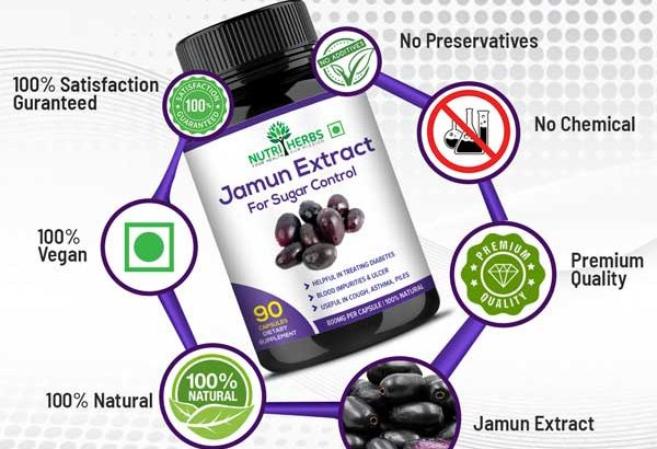 Buy Jamun Extract 90 Capsules for Sugar Control