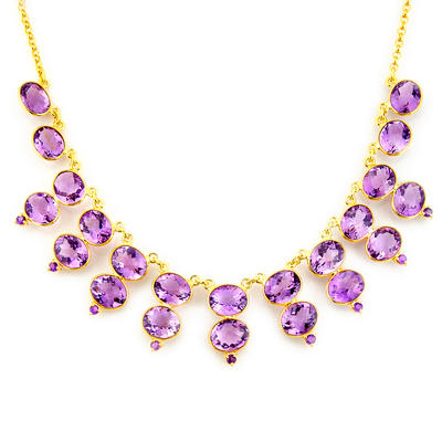 Valentines Day Special Gift: Silver Amethyst jewelry