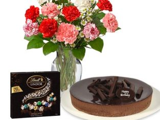 Order online same day or midnight flower and cake combo in Australia