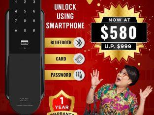 KEYWE PULSE Push Pull Digital Lock Promotion at $580 ONLY. Unlock using Smart Phone.