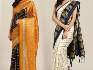 Buy newest Poly Silk Combo Sarees online from Mirraw