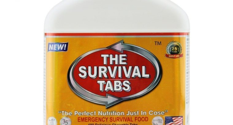 Emergency Survival Food Ration Tabs 480 Calories Hurricane Disaster Meal MRE