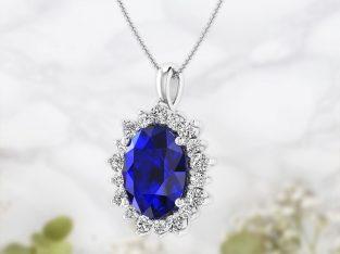 Blue Sapphire Oval pendant