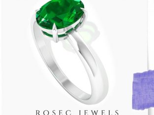 1.26 Ct Solitaire Emerald Ring
