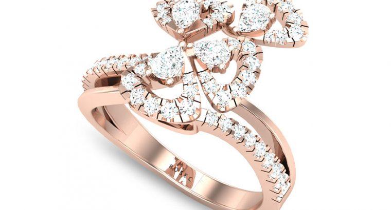 Triangle Pear Diamond Ring