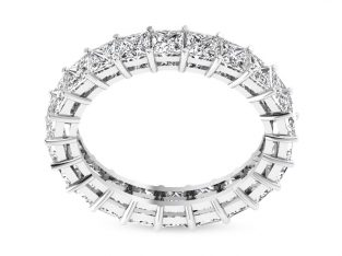 Princess Cut Diamond Eternity Ring Set with White Gold