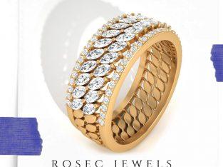 Marquise Diamond Half Eternity Ring