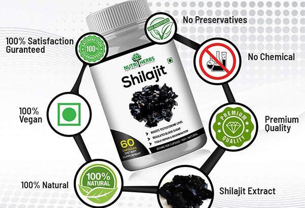 Buy Nutriherbs Shilajit 60 Capsules for High Stamina and Energy