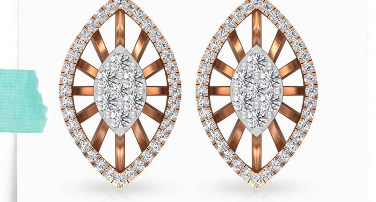 Marquise Shaped Stud Earring