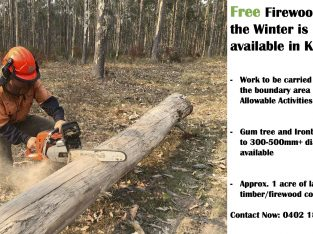 Free Firewood for the Winter is available in Karuah