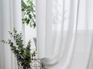 Sheer White Curtains Online-Voila Voile