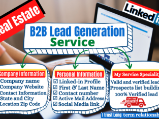 I will do b2b lead generation and build targeted valid email list