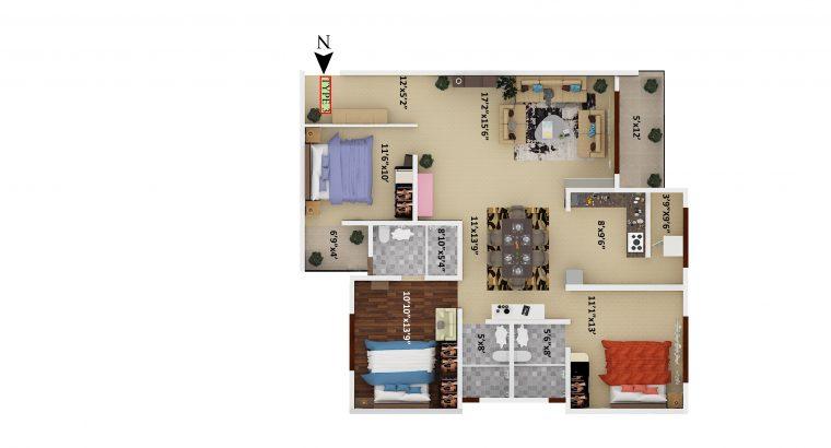 2&3 BHK flats for sale @SV GRANDUR apartment electronic city