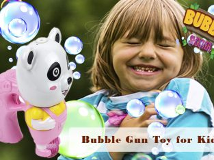 Toysery Panda Shaped Light Up Bubble Blaster for Kids, Bubble Blower Gun Toy Comes with Refill