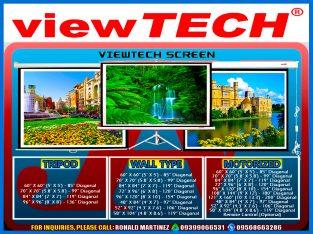 viewTECH Tripod Manual Wall Type Motorized Portable Projection Screen
