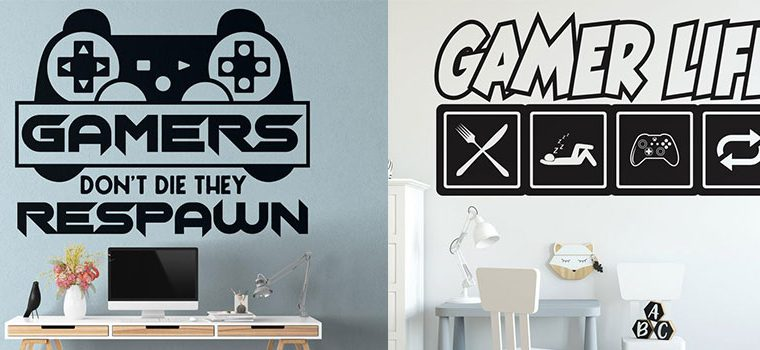 Gamer Wall Decals in the Huetion UK