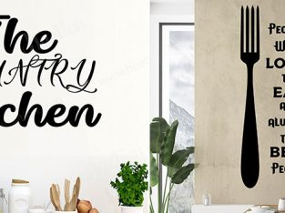 Kitchen Wall Stickers Quotes at Huetion