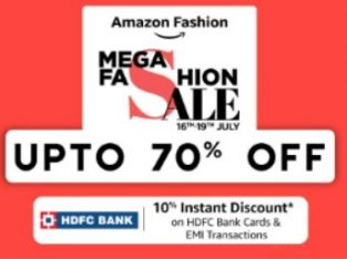 Amazon Mega fashion sale Up to 70 % off for men , women and kids