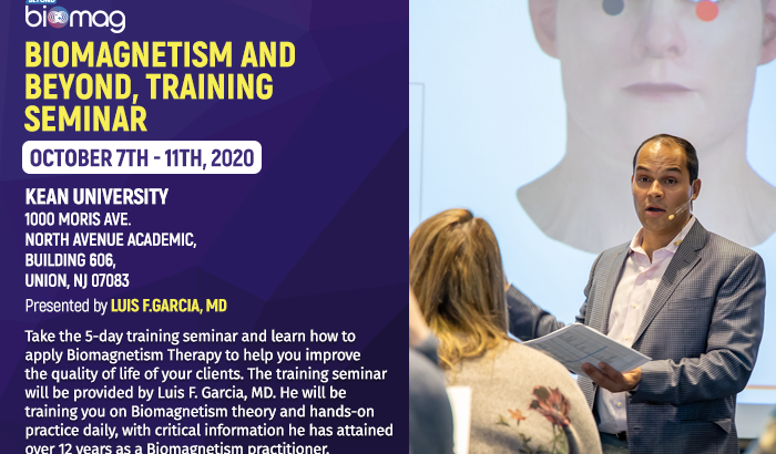 Biomagnetism Training Seminar USA Oct 7th- 11th, 2020
