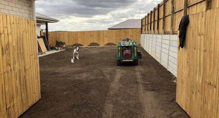 Re-turfing back yard on June 5 in Collingwood Park.