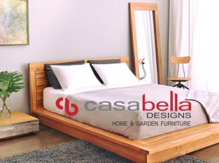 Teak Modern Bed