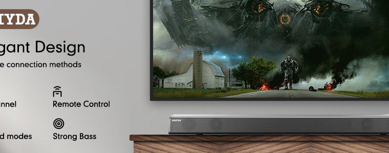 Paiyda FS22– 2.0 Bluetooth Soundbar for TV with Built-in Subwoofer 35 inch
