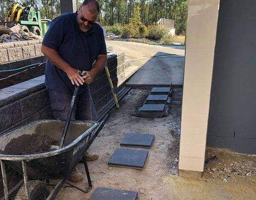 Concrete your pavers.