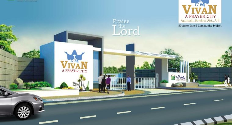 A Christian Gated community in vijayawada Agiripalli nuzvid hiway 100sqyd 500000