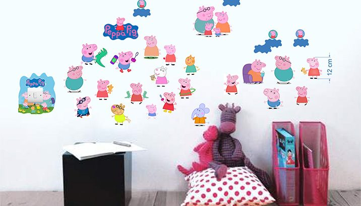 Infans 3D wall stickers, kids room stickers on the wall. Sticker production and printing.