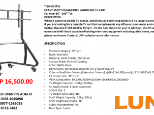 Lumi TV Cart/Troller Heavy Duty