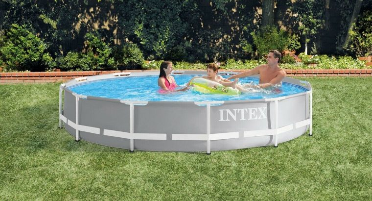 NEW Intex 26711EH 12 x 30 Prism Frame Above Ground Swimming Pool w/ Pump