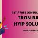 Tron based HYIP platform Development